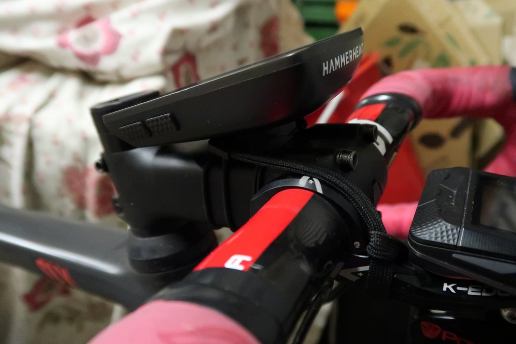 Karoo on Garmin rubber band stem mount